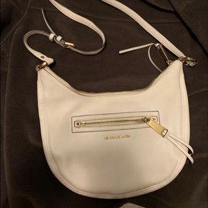 Authentic Michael Kors white pebble leather purse